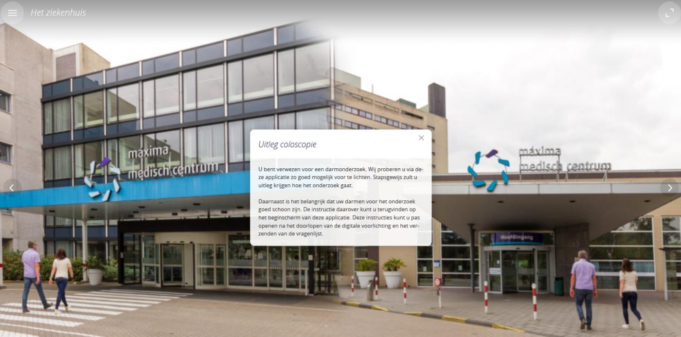 Digitale intake bereidt patiënt voor op coloscopie