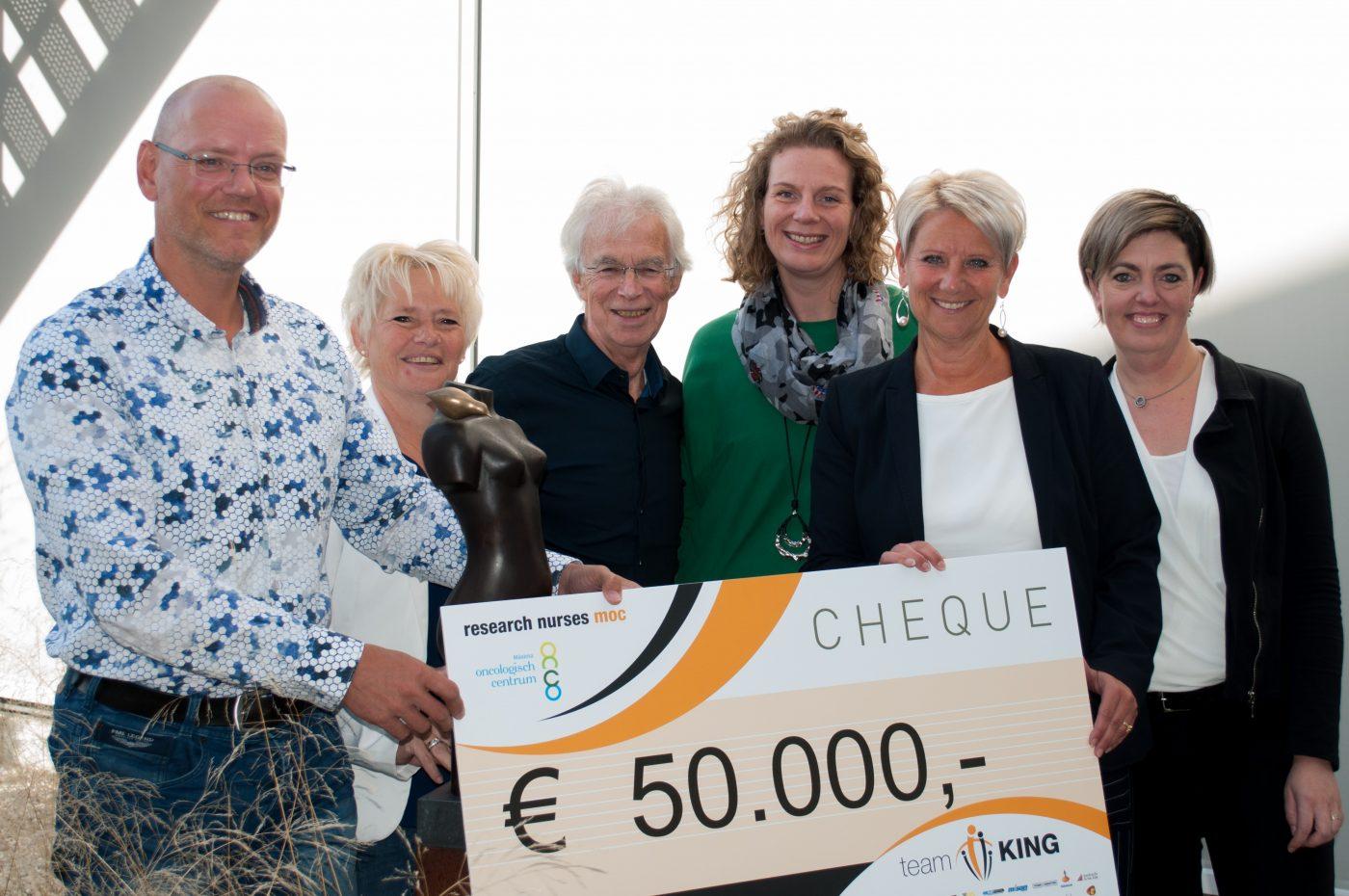Cheque van 50.000 euro voor Máxima Oncologisch Centrum