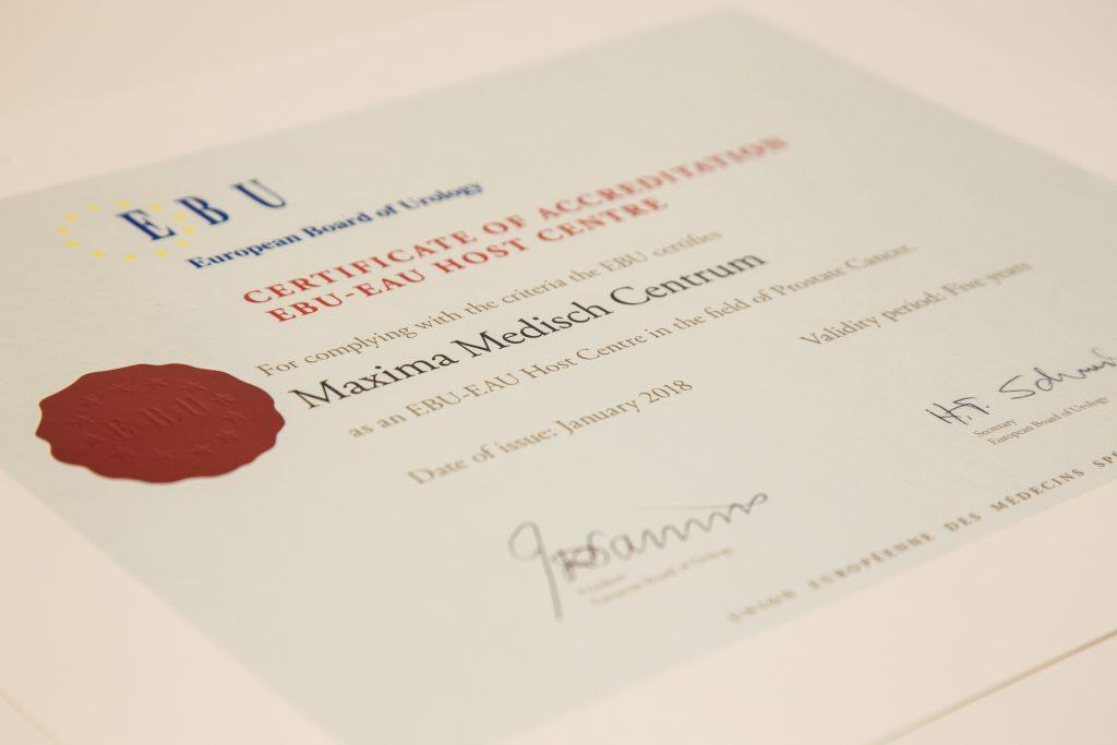 MMC erkend als Europees opleidingscentrum prostaatkanker