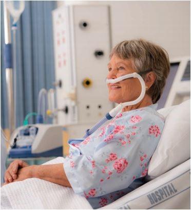 Optiflow ondersteunt patiënt extra bij ademhaling