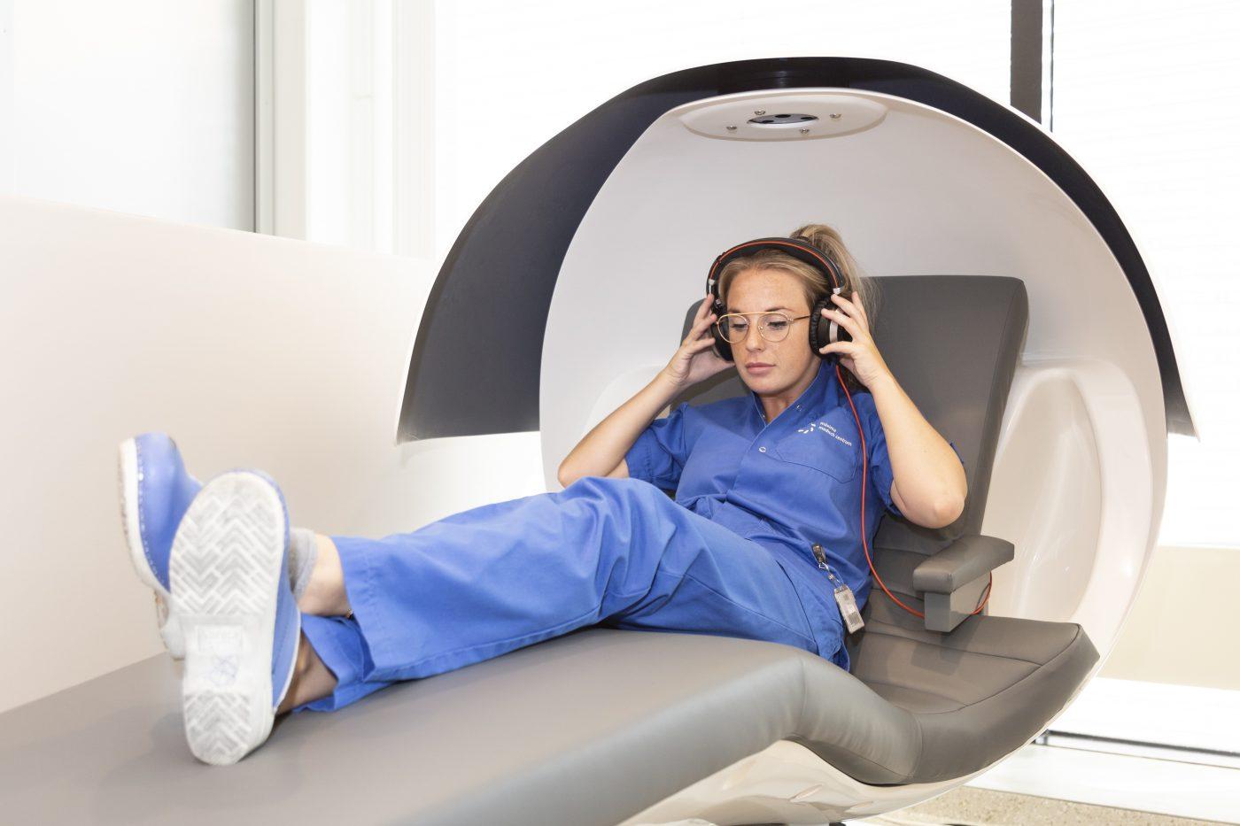 zorgmedewerker ontspannend
