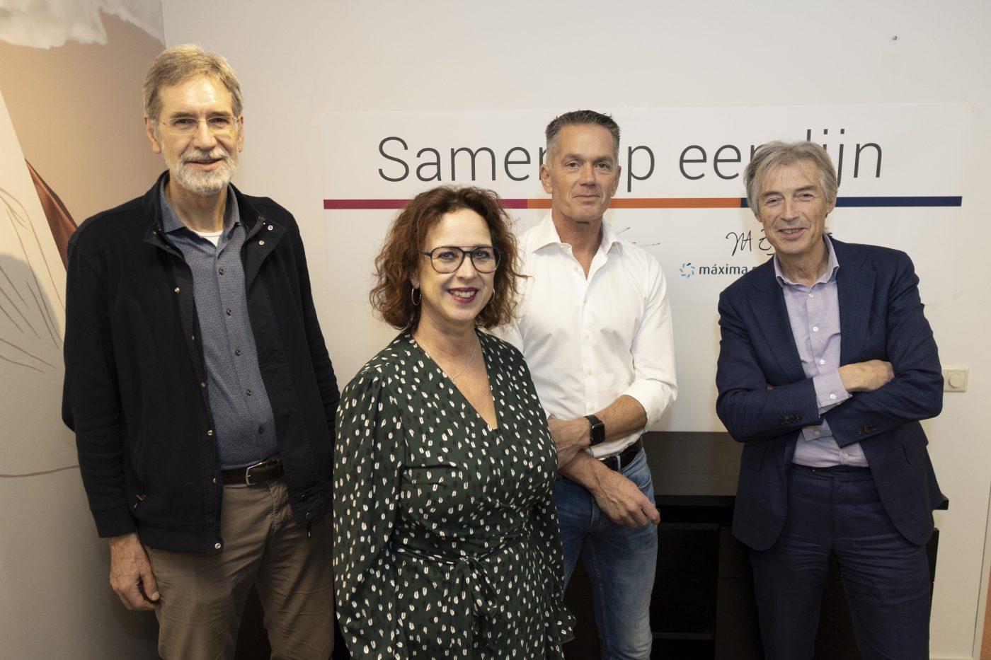 De initiatiefnemers van de nieuwe coöperatie Samen op een lijn