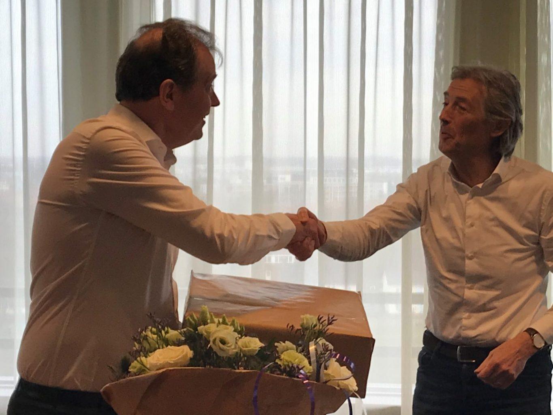 Felicitatie voor Jan Harm Zwaveling nieuwe voorzitter mProve