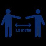 Houdt anderhalve meter afstand MMC